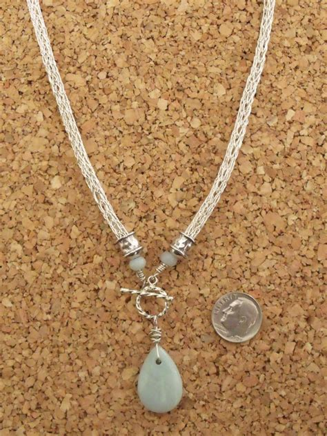 knitting jewelry sterling silver viking knit necklace with order from ka