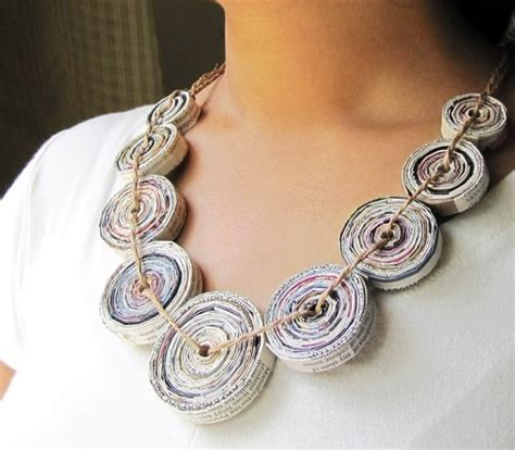 Paper Jewellry - how to recycle recycled paper jewelry