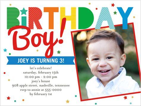 Birthday Invitation Card For 4 Year Boy