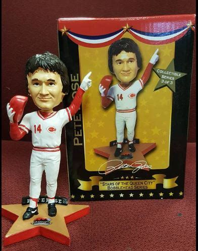 Pete Rose Bobblehead Giveaway - pete rose sga stars of the queen city bobblehead eddie s sports treasures
