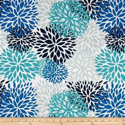 designer fabric premier prints indoor outdoor blooms blue vista discount
