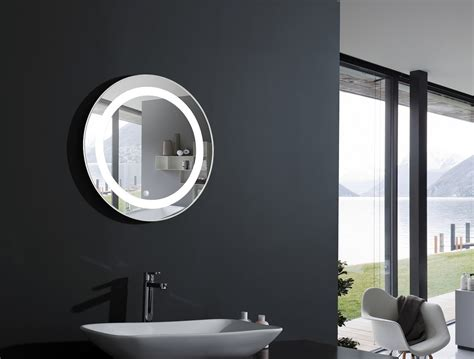 bathroom lighted mirrors elita round lighted vanity mirror led bathroom mirror