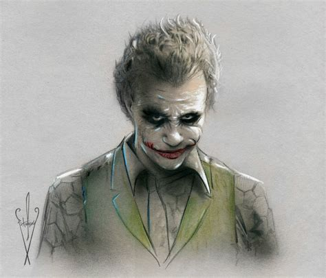 Drawing Joker by Joker Drawing 12 X 18 Batman Rises Heath
