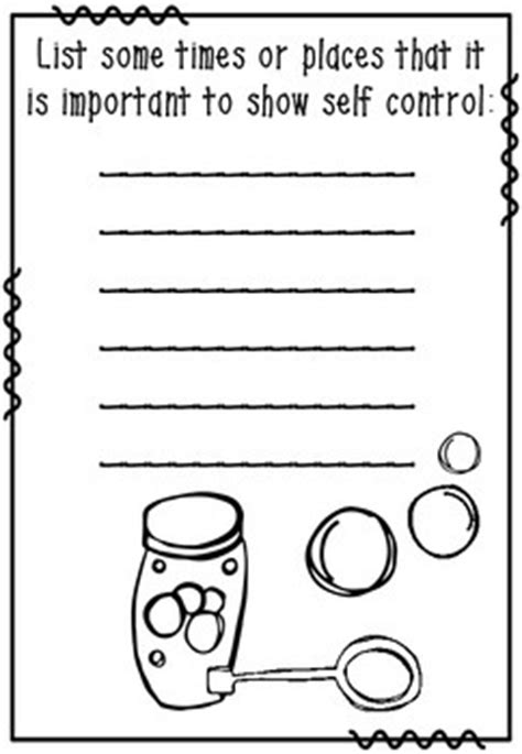 self control worksheets self control bubbles a behavior management teaching tool