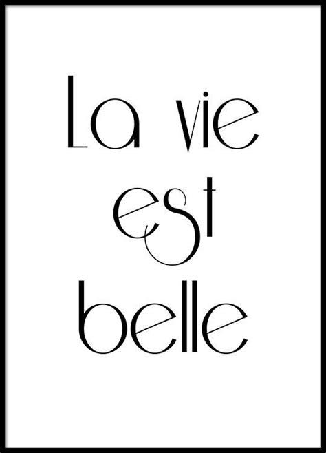p da la vie white gravure avec texte en fran 231 ais noir et blanc affiche
