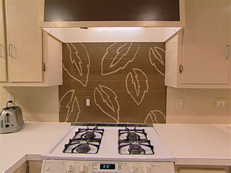 painted backsplash ideas kitchen handpaint a kitchen backsplash hgtv