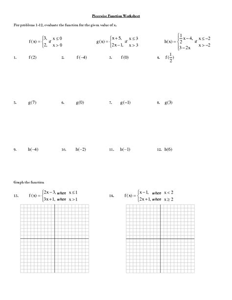 function table worksheet answer key evaluating functions worksheet and answer key free pdf on