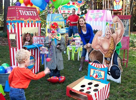 carnival themed ball carnival games party ball toss games ticket booths