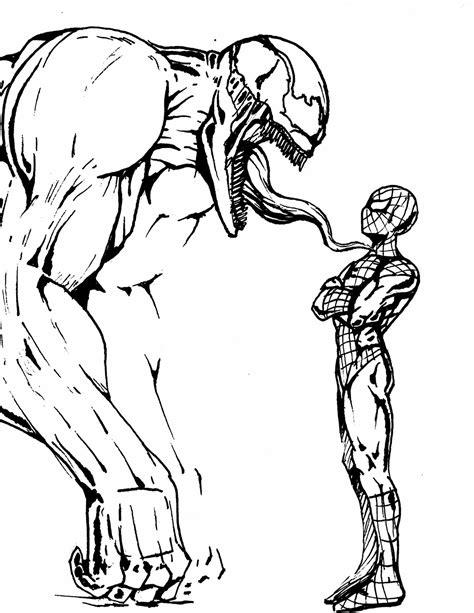 imagenes de spiderman para dibujar a lapiz dibujo spiderman vs venom taringa