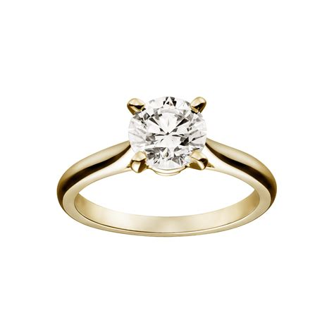yellow gold solitaire engagement rings and