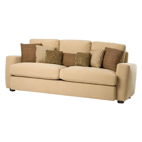 sofa with pillows new modern melony sofa with three accent pillows retail