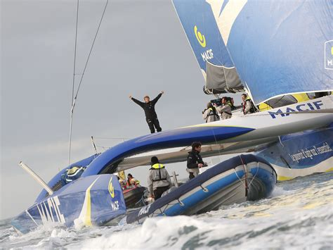 trimaran around the world around the world in 42 days frenchman sets new sailing
