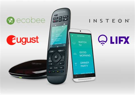 logitech harmony remote gains new home automation integration