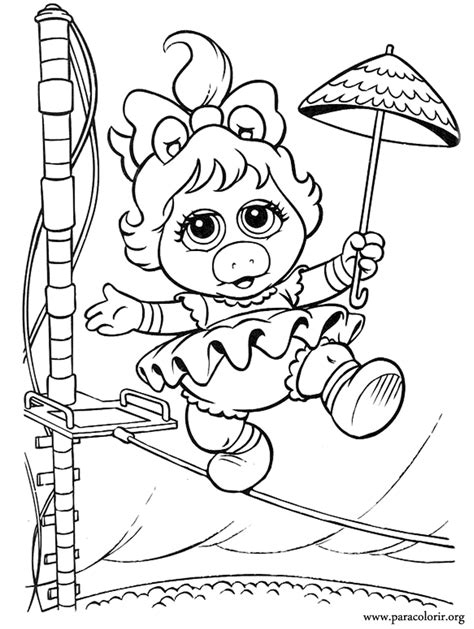 Muppet Babies Miss Piggy Coloring Page Miss Piggy Coloring Pages