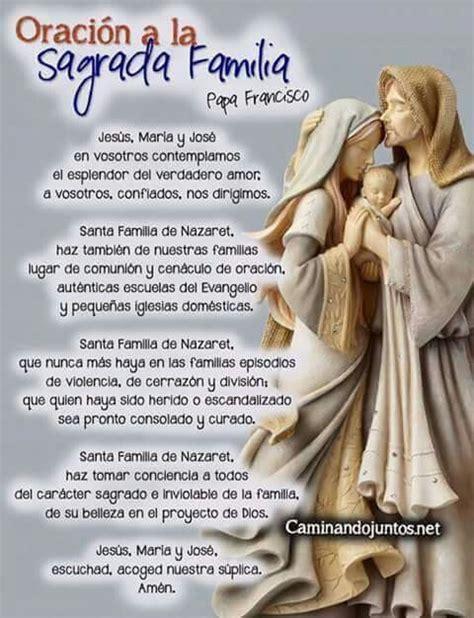 imagenes catolicas oraciones oraci 211 n a la sagrada familia salmos pinterest la