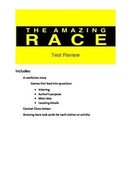 quiz theme quiz user summary reading test review game amazing race theme by the