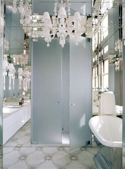 glamorous bathroom mirrors frosted glass doors contemporary bathroom andrew