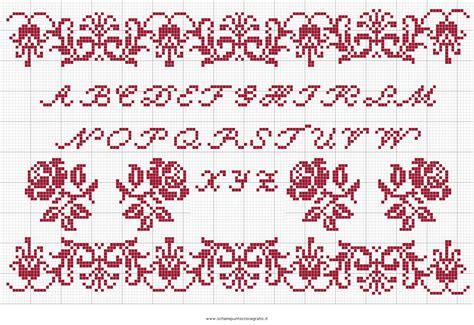 punto croce lettere per bambini puntocroce alfabeto 26 schema punto croce gratuito da stare