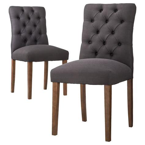 Target Chairs Dining Threshold Brookline Tufted Dining Chair Laguna Set Of 2