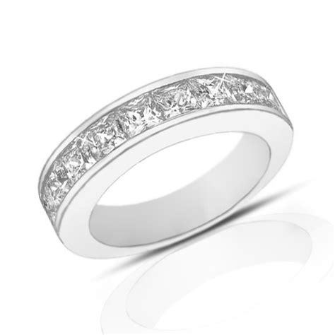 wedding bands in ct 2 00 ct princess cut wedding band ring in channel