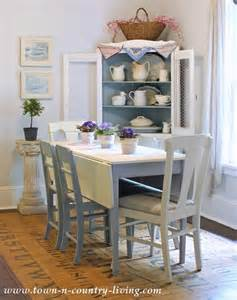 Decorated Dining Rooms Summer Decorating In A Farmhouse Dining Room Town Country Living