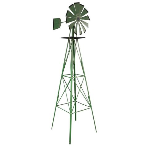 sportsman 8 ft green steel classic decorative windmill