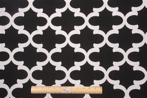 Upholstery Fabric Prints by Premier Prints Fynn Printed Cotton Drapery Fabric In Black