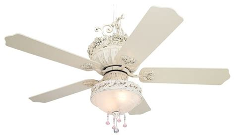 Pretty Ceiling Fan | 52 quot casa chic ceiling fan with pretty and pink light kit
