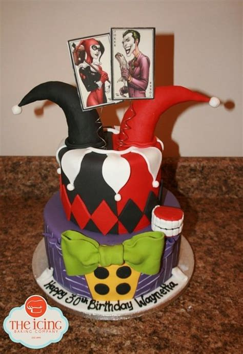 harley quinn   joker birthday cake ladies
