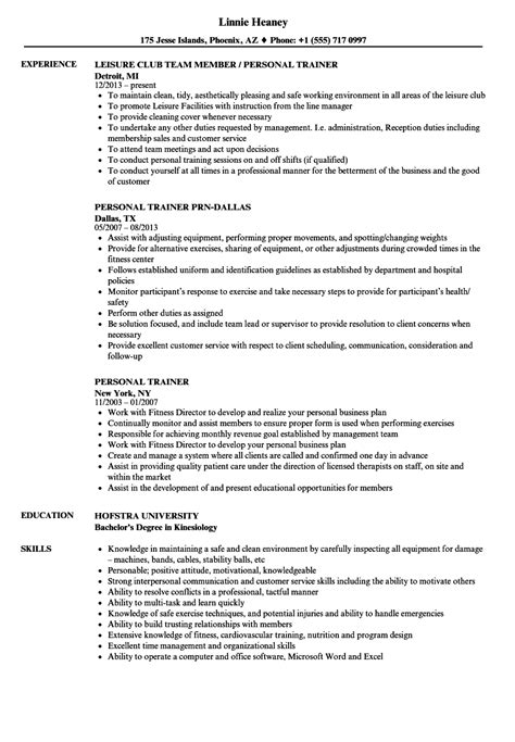 personal trainer resume career faqs