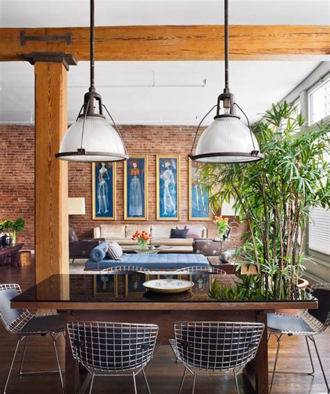 exposed brick wall lighting brick wall studio apartment inspiration