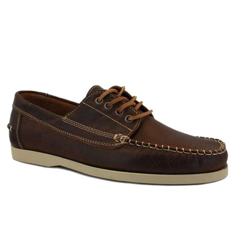 lyle holden ls719v70 mens laced leather boat shoes