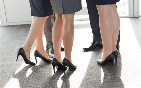 High Heels Premium Wine E599 2 are told by bosses to wear more make up and put on
