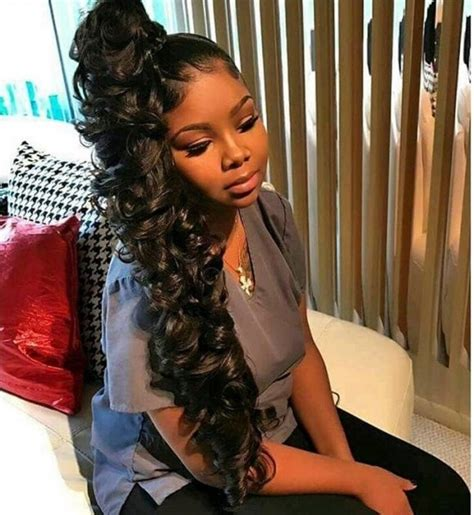 Bangs With Ponytail Black Hairstyle by Most Graceful Black Ponytail Hairstyles
