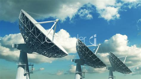 array  satellite dishes royalty  video  stock footage