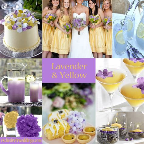 lilac and yellow wedding theme pastel wedding colors seven dreamy combinations