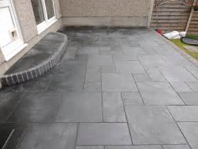 Slate Patio Cwm Llynfi Bricklaying Carbon Black Slate Patio