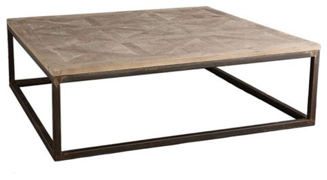 Square Metal Coffee Table Square Parquet Top Coffee Table Modern Coffee Tables By Wisteria
