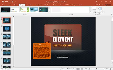 animated sleek design powerpoint template