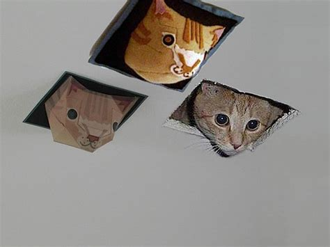 Ceiling Cat Papercraft - plush ceiling cat make