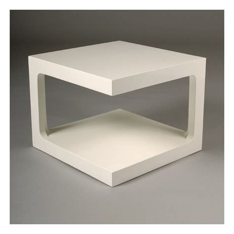 Superbe Tables De Nuit Conforama #9: Table-basse-carree-blanche-karre.jpg
