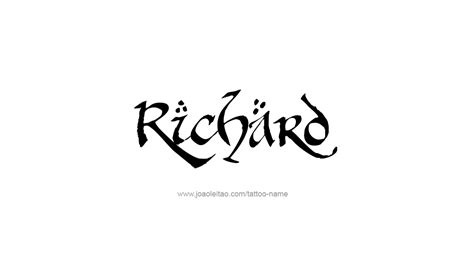 richard tattoo richard name designs