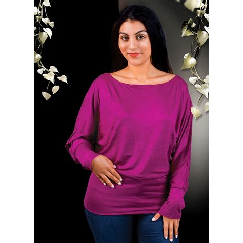 boat neck ladies tops ladies tops ml 011205 batwing long sleeve boat neck top