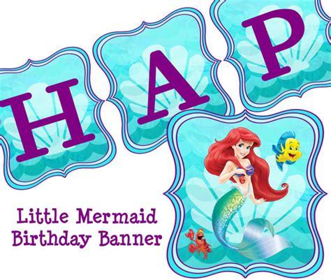 printable ariel birthday banner disney little mermaid birthday banner ariel by coltellodesign