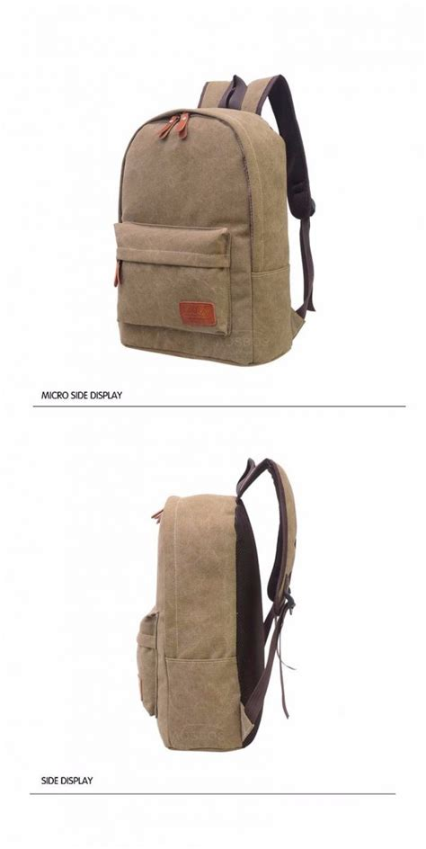 mo y tas ransel vintage solid canvas backpack black