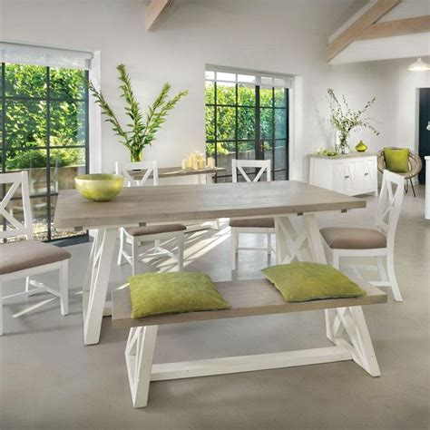 white  grey extending dining table