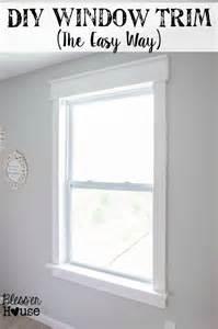 Makeover Bathroom - diy window trim the easy way