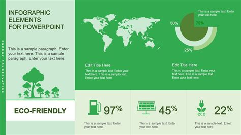 eco friendly home infographic with cutaway diagram of eco friendly infographic powerpoint template slidemodel