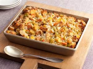 stuffing thanksgiving three bread stuffing recipe sandra lee food network