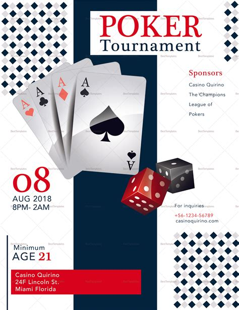 Poker Tournament Flyer Design Template In Psd Word Publisher Illustrator Indesign Tournament Flyer Template Word